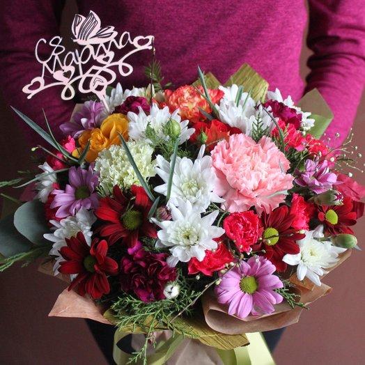 Весенняя композиция на 8 марта: букеты цветов на заказ Flowwow
