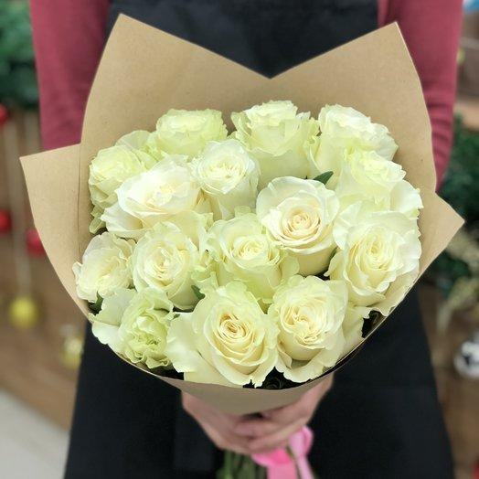 Букет из 15 роз с крупным бутоном