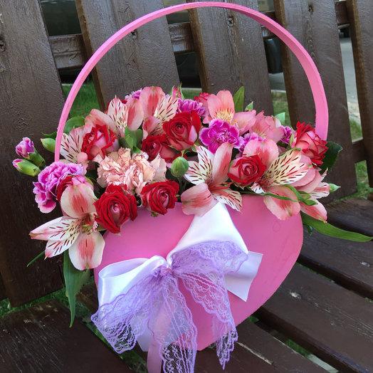 Сумочка сердце «Розали»: букеты цветов на заказ Flowwow