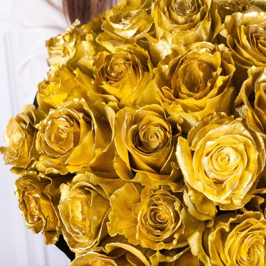 Золотые эквадорские розы : букеты цветов на заказ Flowwow