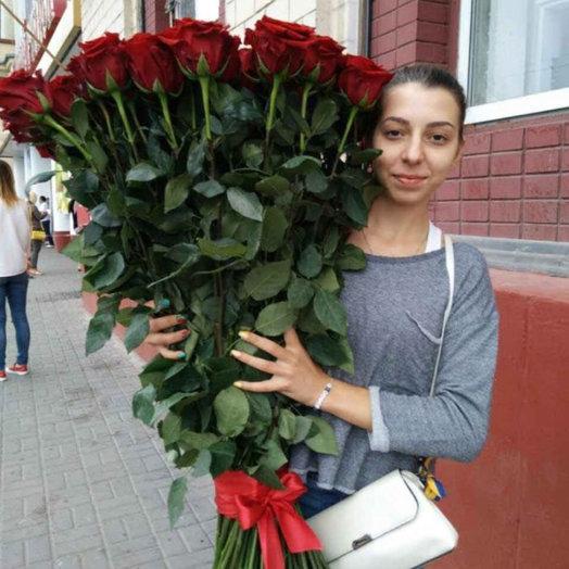 101 роза 120см: букеты цветов на заказ Flowwow