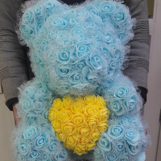 Teddy rose blue: букеты цветов на заказ Flowwow