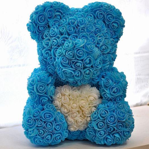 ГОЛУБОЙ МИША В ГОСТЯХ У ТИФФАНИ: букеты цветов на заказ Flowwow