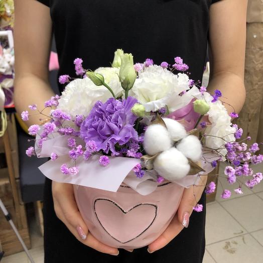 Цветочное кашпо: букеты цветов на заказ Flowwow