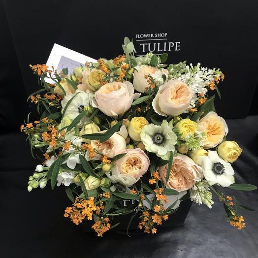 La Tulipe 01 / Розы Девида Остина и Анемоны: букеты цветов на заказ Flowwow