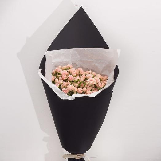 """Букет из кустовых роз """"Миндальное молочко"""": букеты цветов на заказ Flowwow"""