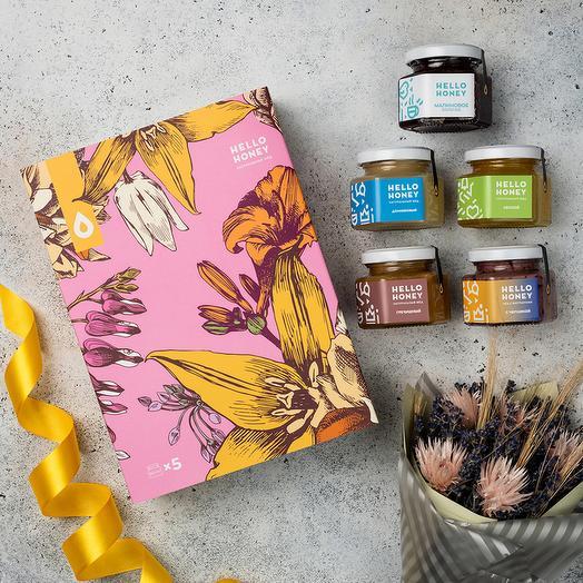 Подарочный набор мёда «Весенняя романтика»: букеты цветов на заказ Flowwow