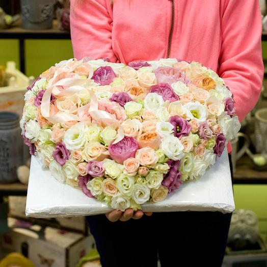 """Сердце из цветов """"Джейн Остин"""": букеты цветов на заказ Flowwow"""