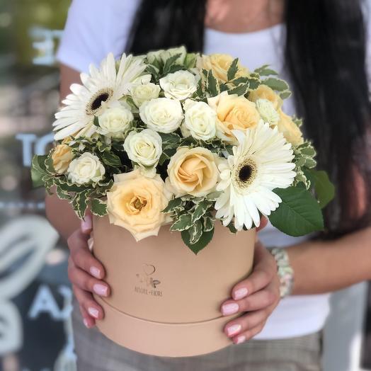 Лето в шляпной коробке: букеты цветов на заказ Flowwow
