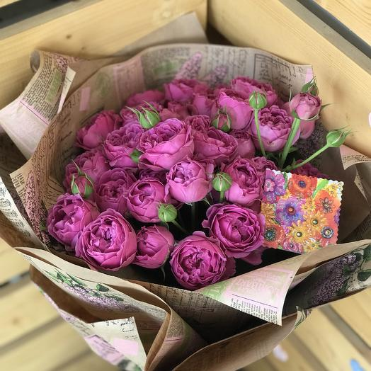 Роза -Пион: букеты цветов на заказ Flowwow
