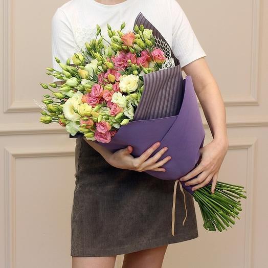 29 лизиантусов микс: букеты цветов на заказ Flowwow