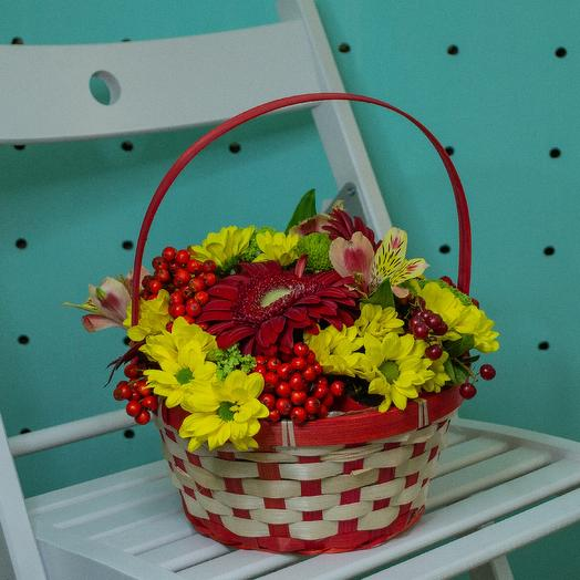 """Корзинка """"Золотая осень"""": букеты цветов на заказ Flowwow"""