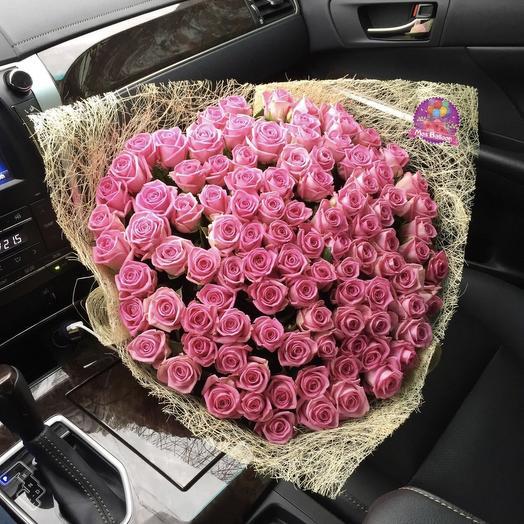 "Букет роз ""Аква"": букеты цветов на заказ Flowwow"