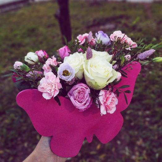 """Цветочная композиция """"Бабочка"""": букеты цветов на заказ Flowwow"""
