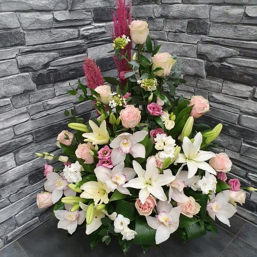 "Elegant basket of orchids ""Unreal love"": flowers to order Flowwow"