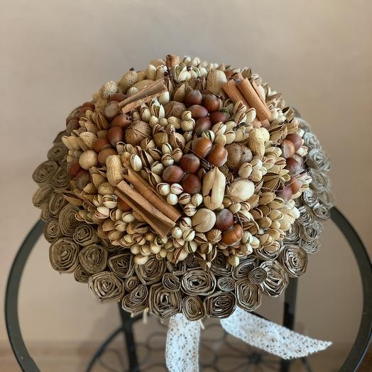 Ореховый букет «Стильный орешек»: букеты цветов на заказ Flowwow