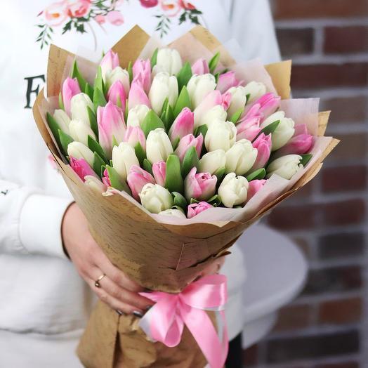 Букет из 49 тюльпанов (микс). N680
