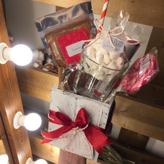 Подарочный набор «Какао с зефирками»: букеты цветов на заказ Flowwow