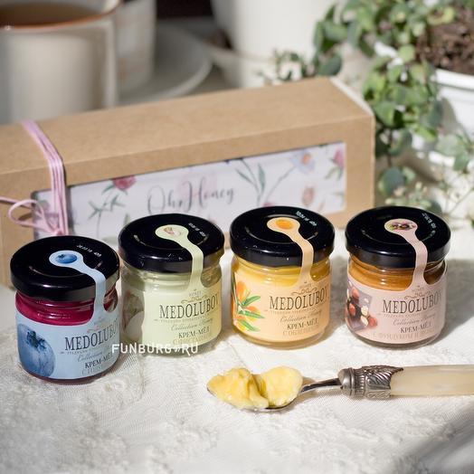 Ассорти крем-мёда «Honey Bee»: букеты цветов на заказ Flowwow