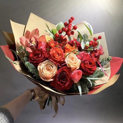 Букет «Багряный клён»: букеты цветов на заказ Flowwow