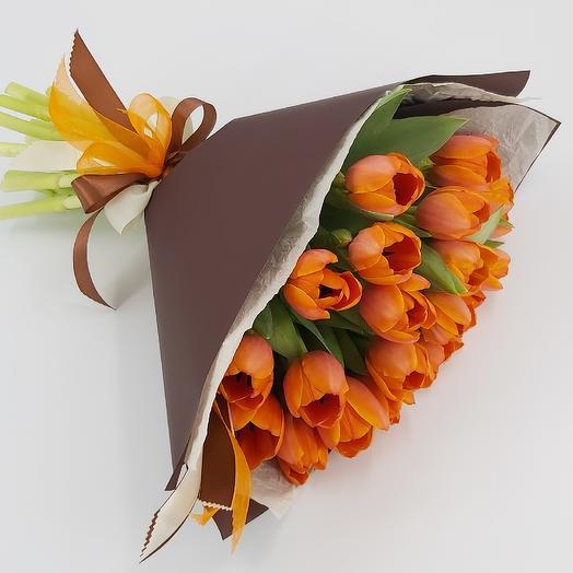 Апельсины в шоколаде: 21 тюльпан