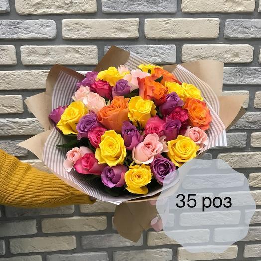 35 мини роз микс