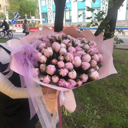 Пионы 101 счастье: букеты цветов на заказ Flowwow