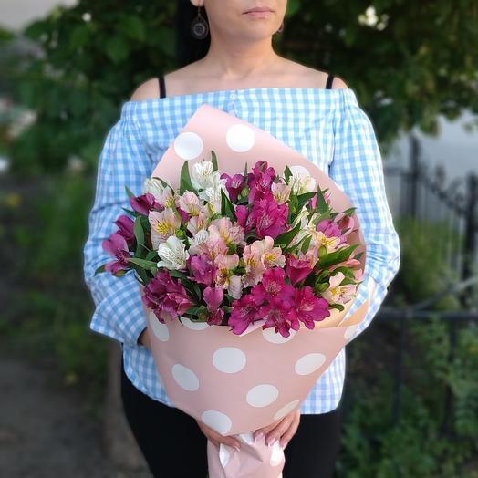 Сицилия🌸 альстромерии розовые и белые