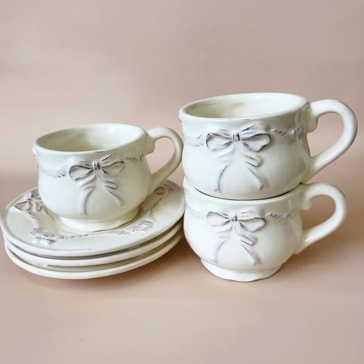 """Чашка с блюдцем """"Бантик"""""""