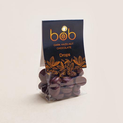 Дропсы из темного фундучного шоколада