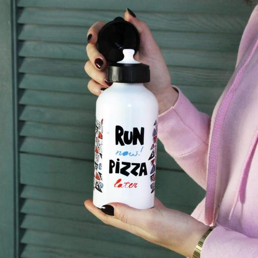 Бутылка Морда Довольна RUN NOW PIZZA LATER