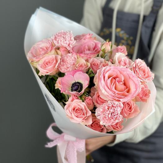 Букет «Розовое облачко» S