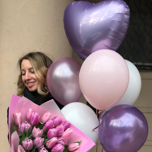 Тюльпаны и шары
