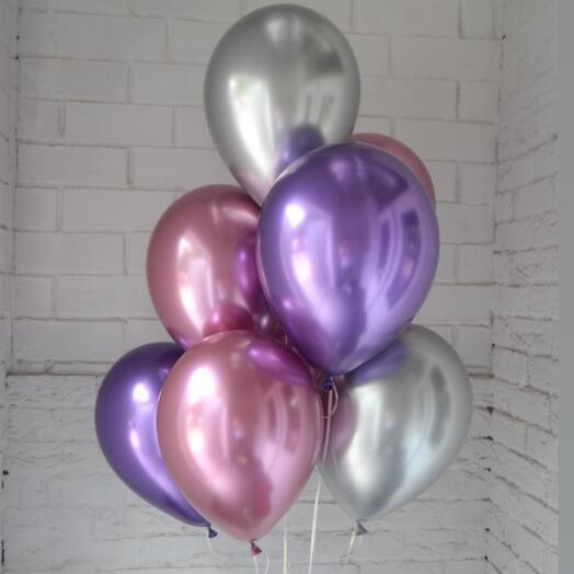 7 шаров хром нежный микс