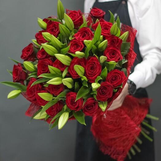 Букет цветов «Признание в любви»