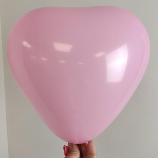 Воздушный шар /Сердце 💓 стандарт розовый