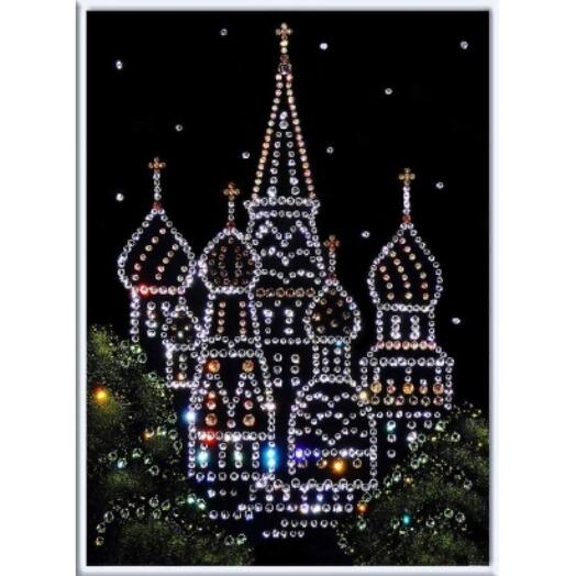 """Картина с кристаллами Swarovski """"Покровский собор"""""""