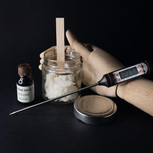 Набор DIY/ Подарочный набор для изготовления ароматической свечи из соевого воска с деревянным фитилем Aroma Select