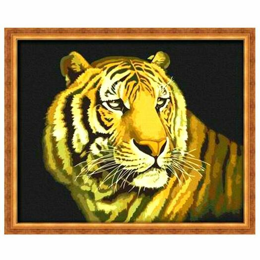 Картина по номерам Полосатый хищник