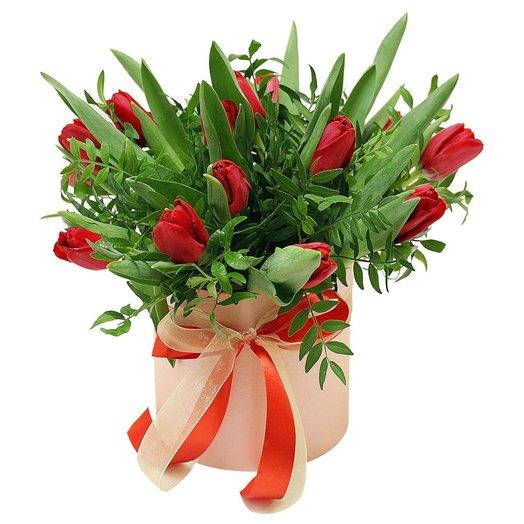 Коробочка с тюльпанами 7