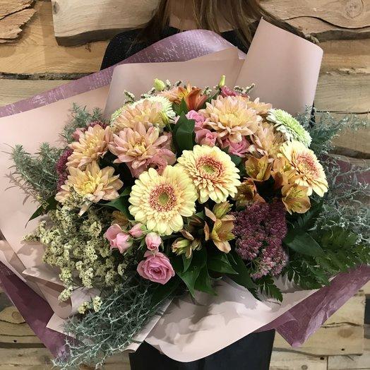 Букет из хризантем и гермини: букеты цветов на заказ Flowwow