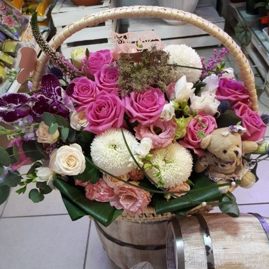 Корзина «Милашка»: букеты цветов на заказ Flowwow