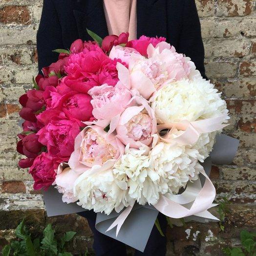 Пионовый микс: букеты цветов на заказ Flowwow