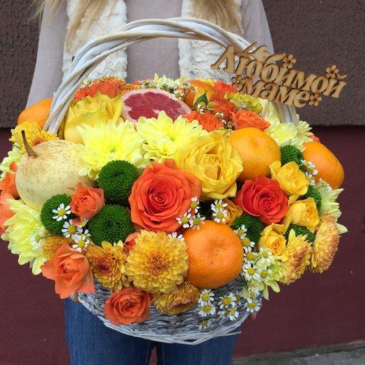 Яркая авторская корзина: букеты цветов на заказ Flowwow