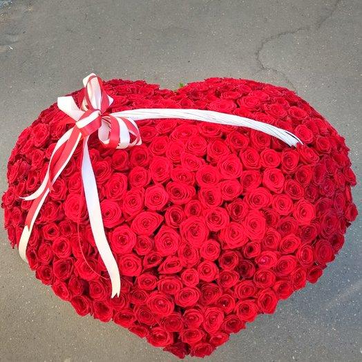 3D Серца: букеты цветов на заказ Flowwow