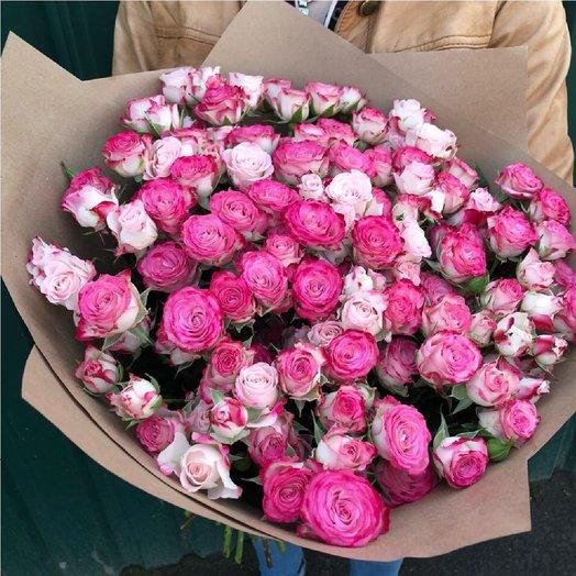 29 кустовых роз. букет из кустовых роз.: букеты цветов на заказ Flowwow