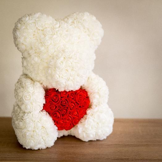 Мишки из 3D роз: букеты цветов на заказ Flowwow