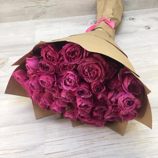 Букет из 15 пионовидных роз: букеты цветов на заказ Flowwow