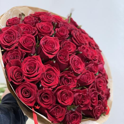 ✅ Букет роз Total Red 51