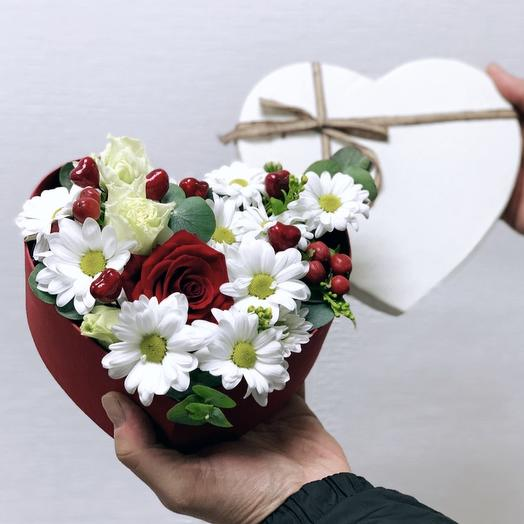 Мое сердечко: букеты цветов на заказ Flowwow